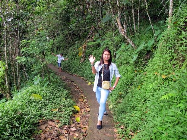 Walking to the falls